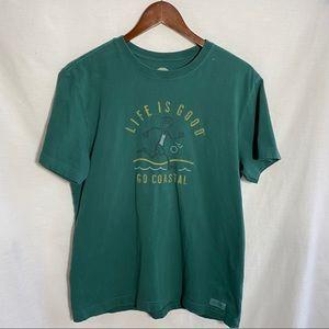 Life is Good going coastal T-shirt